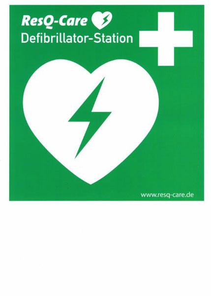 Defibrillator Station Aufkleber