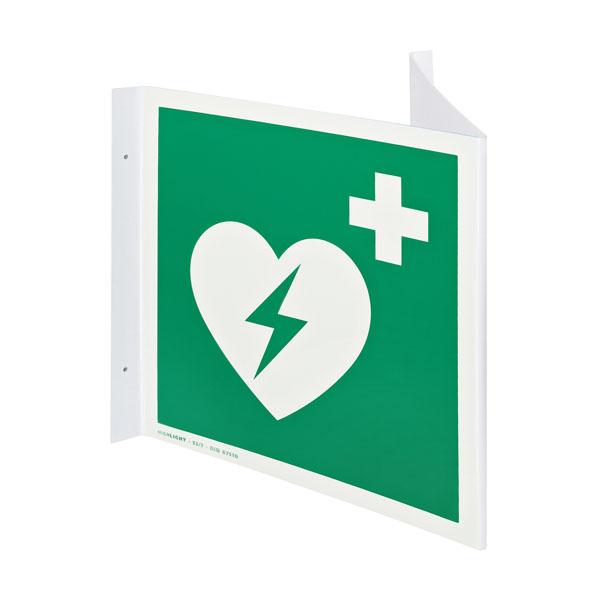 Defibrillator Nasenwinkelschild